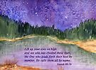 I Stand In Awe of Thee. - Isaiah 40:26 by Diane Hall