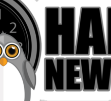Happy New Year - Penguin Sticker