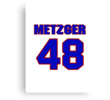 National baseball player Butch Metzger jersey 48 Canvas Print