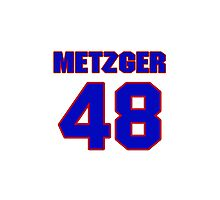 National baseball player Butch Metzger jersey 48 Photographic Print