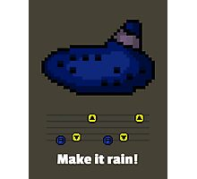 Pixel Ocarina : Make it rain! Photographic Print