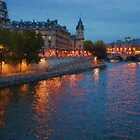 Impressions of Paris - Seine River at Night by Georgia Mizuleva