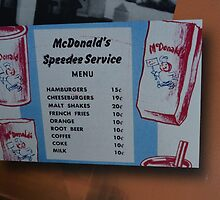 McDonalds Menu  by Jonathan Stafford