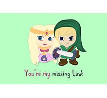 Link & Zelda Valentines: Missing Link Photographic Print