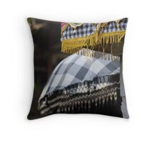 Bali Umbrellas Throw Pillow