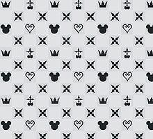 Kingdom Hearts Charcoal Pattern by destinyislands