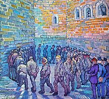 'Prisoners Walking The Round' by Vincent Van Gogh (Reproduction) by Roz Abellera Art