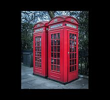 Classic London Telephone Booths by Nicole Petegorsky