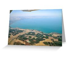 Aerial view of the Sea Of Galilee, Israel  Greeting Card