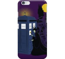 Maleficent and the Tardis   iPhone Case/Skin