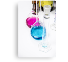 Chemical flasks in Industrial Chemistry Laboratory Canvas Print