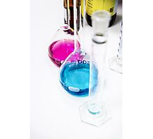 Chemical flasks in Industrial Chemistry Laboratory Photographic Print
