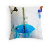 Chemical flasks in Industrial Chemistry Laboratory Throw Pillow