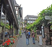 A Lane in Rudesheim by Graeme  Hyde