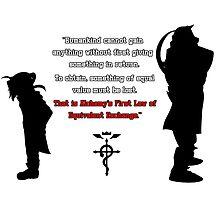 Full Metal Alchemist Equivalent Exchange Quote by trauz