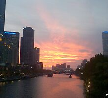 Sunset Over Yarra by Martin Anski