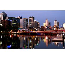 Melbourne City lights Photographic Print