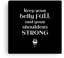 Keep Strong Canvas Print