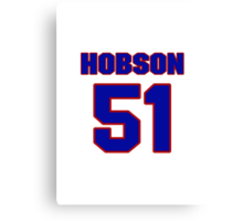 National baseball player Butch Hobson jersey 51 Canvas Print
