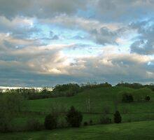 Rolling Hills, Rolling Skies by Rebecca Cruz