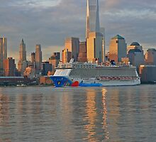 Cruise Ship Norwegian Breakaway on the Hudson River by pmarella