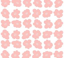 Pink flowers by laurathedrawer