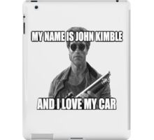 MY NAME IS JOHN KIMBLE iPad Case/Skin