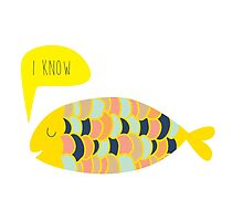 """""""i know"""" fish - matches with """"i love you"""" fish by laurathedrawer"""