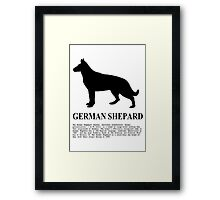 German Shepard Framed Print
