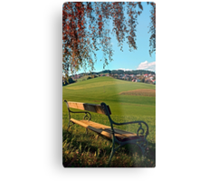 Bench under the tree | landscape photography Metal Print