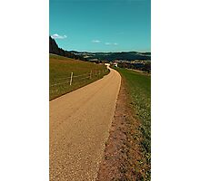 Country road into some autumn scenery   landscape photography Photographic Print