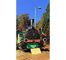 Historic steam train, abandoned   transportation photography Photographic Print