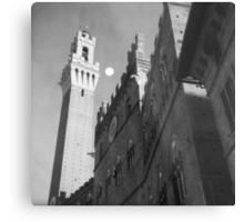 Rising moon, Torre del Mangia, Siena Metal Print