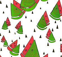 Abstract Watermelon  by Amy Hall