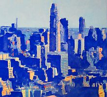 Rhapsody in Blue - Afternoon View of The Upper East Side by RDRiccoboni