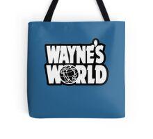 Wayne's world film movie logo Tote Bag