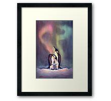 PENGUIN FAMILY by SHARON SHARPE Framed Print