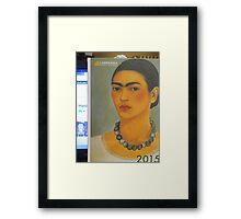 Per la mia amica Madalena Lobao......autoritratto con collana 1933 di Frida Kahlo- Framed Print