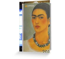 Per la mia amica Madalena Lobao......autoritratto con collana 1933 di Frida Kahlo- Greeting Card