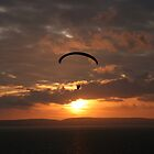 Paraglider at Sunset by Faith Barker Photography