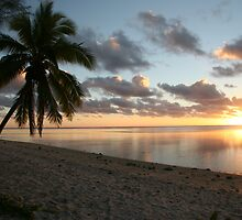 Aitutaki Sunset by ardwork