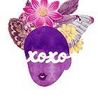 XOXO Typography Art Print by TabithaBianca