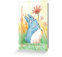 My litle blue Totoro ! [UltraHD] Greeting Card