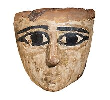An Egyptian wooden mask 1st Millennium BC by PhotoStock-Isra
