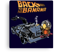 Back To The Banana Canvas Print
