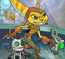 Ratchet and Clank by dlxartist