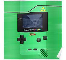 Gameboy Color Zelda Triforce Logo Poster