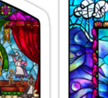 Stained Glass Mini Sticker Pack - Beauty and the Beast & Ariel Sticker