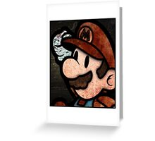 Mario Bros Greeting Card