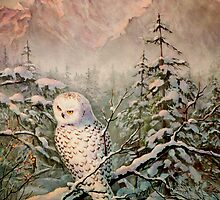 SNOWY OWL by SHARON SHARPE by sharonsharpe